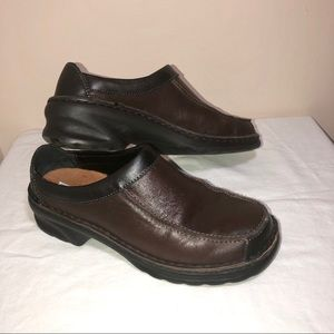 Josef Seibel brown and clack loafers size 7.5